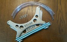 "GENUINE EELCO 8"" FUEL TANK MOUNTING BRACKETS and Hardware kit  GASSER FIT MOON"