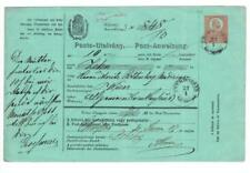 Hungary POSTAL MONEY ORDER-HG:J3-THURDOSSIN 27/1/1873-minor edge