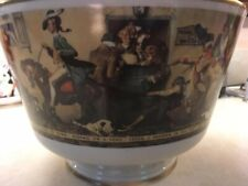 """Norman Rockwell """"Yankee Doodle"""" Bowl by Gorham Fine China 1976 Limited Edition"""