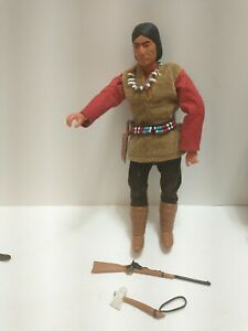 """Red Sleeves 10"""" The Lone Ranger Marx Gabriel Vintage 1973 Action Figure"""