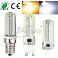 New G9 E14 G4 72 LED 3014 SMD Dimmable Silicone Crystal Light Bombilla Lámpara