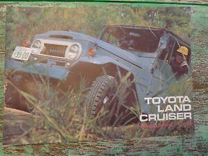 ORIGINAL 1968 Toyota LAND CRUISER Dealer Brochure in Japanese JDM