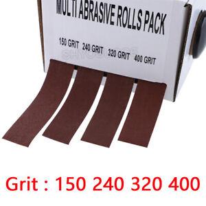 4Roll Grit Sandpaper Dry Grinding Emery Sanding Belt Drawable Sand Paper Roll 6M