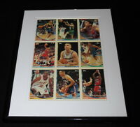 1993 Topps Basketball Framed Uncut Card Sheet Chris Mullin + 8