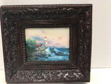 Thomas Kinkade Lighthouse Painter Of Light Print Mini Estate Find 8�x10� Framed