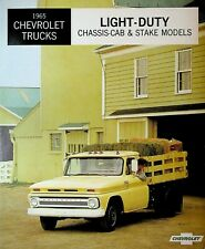 1965 Chevrolet Trucks Light Duty Chassis Cab & Stake Models Brochure Chevy