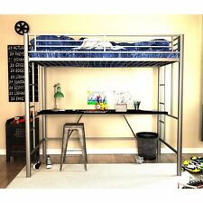 Twin loft bed with desk for boys and girls