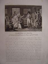 Gravure de Napoléon Bonaparte au Château du Grand Veneur de Saxe 24 Octobre 1806