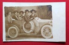 Foto AK um 1910 Frauen im Automobil   ( 5472