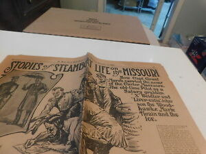 1909 St Louis Newspaper Section Stories Steamboat Life in Missouri