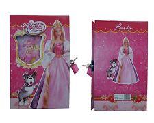 Barbie Princess Verschließbar Tagebuch Mädchen Kinder Schule Tagebuch Mit