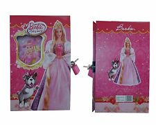 Barbie Princess Lockable Diary Girls Kids School Gift Diary With Box Case 20cm