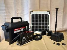 10W SOLAR PANEL POWERED WATER FOUNTAIN PUMP W BATTERY BACK-UP POWER DAY &  NIGHT