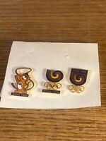 3 Pin Lot Seoul 1988 Olympic Rings Mascot Hodori The Tiger Korea