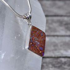 Opal Anhänger, 925er Silber, Edelsteinanhänger (11424), Boulder Opal