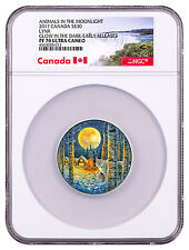 2017 Canada Animals in Moonlight Lynx 2 oz Silver $30 NGC PF70 UC ER SKU47110
