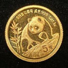 1990 China, 1/20 oz Gold Panda.! Uncertified.! NR.!