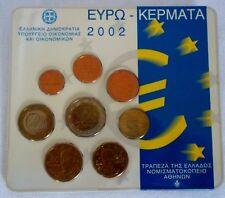 MONEDAS EURO. CARTERA OFICIAL GRECIA 2002 8m.