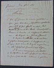 Général PLAUZONNE autographe 1811 / Tué à la bataille de la MOSKOWA