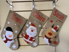 Personalised Hessian  Xmas Stocking Hessian Christmas #