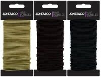 50 Pack Snag Free Thin Elastic Hair Bands Bobbles Band School Ponytail Elastics