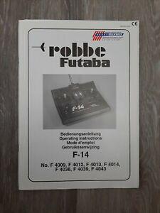 Robbe Futaba F14 Bedienungsanleitung Deutsch Englisch Französisch Niederländisch