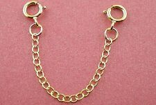 "9ct Gold Chain Extender / Safety Chain Bracelet Necklace 1"" to 8"" Two Bolt Rings"