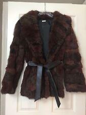 Vintage Rabbit Fur Coat Jacket Size Large Fall Winter Clothes Women Ladies