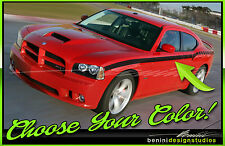Dodge Charger Side Stripe Strobe Decal RT SRT Daytona 2006 07 08 2009 2010