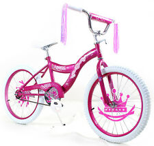 "Kids 16"" Bicycle Bike with Training Wheel Girls Includes Princess Pink Stickers"