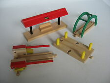 BUILDINGS / ACCESSORIES for  Wooden Train Track Set ( Brio Thomas Crossing ) h