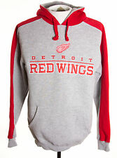 NHL Official Detroit Red Wings Mens sz M Pullover Hoodie Embroidered Sweater