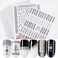 Lace 3D Nail Stickers Sheets Sports Style Nail Art Transfer Decals Tips Decors