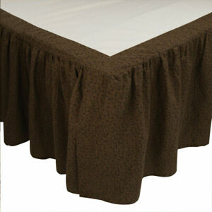 Park Designs Shades Of Brown Queen Bed Skirt | Park Designs