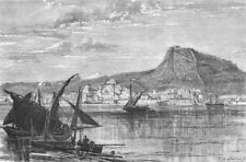 ALICANTE. Civil war in. bombarded, intransigentes, antique print, 1873