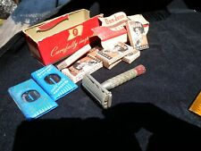 Gillette Red Tip D3 Safety Razor Don Jaun Blade Box Blue Advertising Tin Vintage