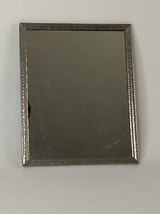 Vintage Mirror 8x10 Metal Filligree Frame Stand or Hang