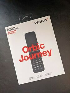 Verizon Prepaid Orbic Journey V 4G LTE Camera Flip Phone Black NO CONTRACT NEW