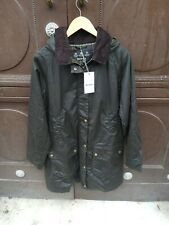 Barbour Ladies Canfield Waxed Jacket - Olive - Size UK Womens 16