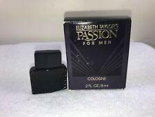 ELIZABETH TAYLOR'S PASSION FOR MEN COLOGNE MINI .2 FL OZ UNSEALED BOX (B9)
