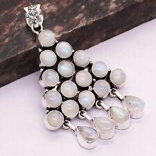 """Jewelry 2.88"""" Ap 31486 Rainbow Moonstone Ethnic Handmade Pendant"""