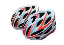 HardnutZ Bike Helmet Road Mountain Bicycle Cycling Hi Vis MTB White Red New