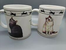 Cat Lovers Limited Collectable Coffee Mugs Chartreux,Turkish, Abyssinian, Siberi