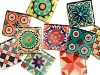 Handmade Spanish Inspired Glass Tiles 2.5cm - Mix 4 - Mosaic Art Craft Supplies