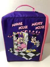 Disney Minnie N Mickey Wiz Too Bookbag Locker Backpack - Purple Pink - RARE!!
