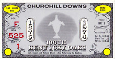 VINTAGE HORSE RACING  1974 KENTUCKY OAKS ADMISSION TICKET