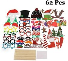 Llop Christmas Props, 66 Pieces Christmas Photo Booth Props Kit, Diy Xmas Party