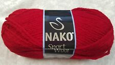 Nako Sport Wool Chunky #3641 Dark Red 100g Wool & Acrylic