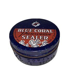 Vintage Cobalt Blue Bottle Glass Embossed Blue Coral Preservative Sealer 2103026