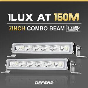 2x 7inch Osram LED Work Light Bar Super Slim Single Row Combo Beam Lamp Offroad